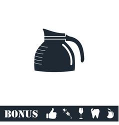 Coffee maker icon flat vector