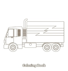Coloring book truck vector image