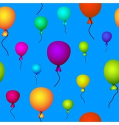 coloured balloons flying vector image