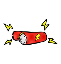 Comic cartoon batteries vector
