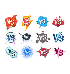 comic versus logos vs pop art retro game concept vector image