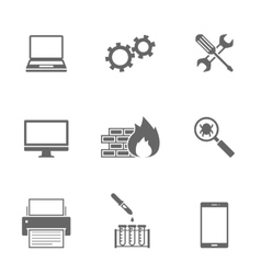 Computer Service Icons Set vector