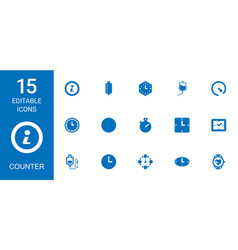counter icons vector image