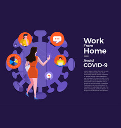Covid19-19 work from home 17 vector