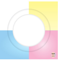 design colorful circles with line elements vector image