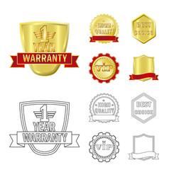 Design emblem and badge logo set of vector