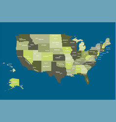 detailed map of united states of a vector image
