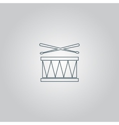 Drum Icon Isolated vector image