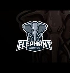 elephant mascot sport logo design vector image