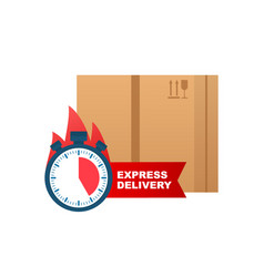 express delivery icon for apps and website vector image