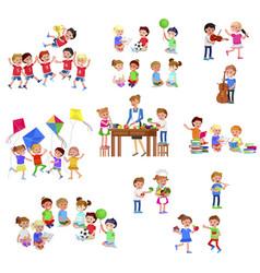 for celebration children day fun child vector image