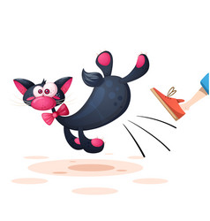 funny cute pretty cat characters vector image