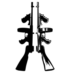 Gangster gun vector