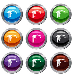 Gasoline pump nozzle set 9 collection vector