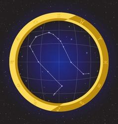 gemini star horoscope zodiac in fish eye vector image