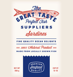 Great taste fish suppliers abstract rustic vector