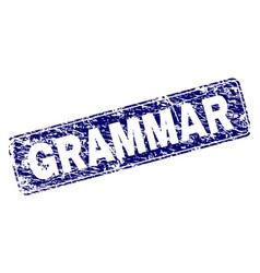 Grunge grammar framed rounded rectangle stamp vector