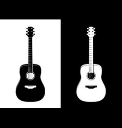 guitar in black and white vector image