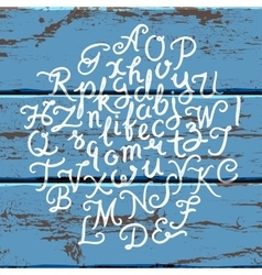 Handwritten alphabet vector image