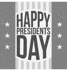 Happy Presidents Day Poster with Text vector image