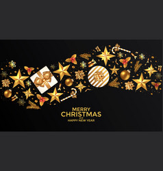 holiday new year card - 2019 on black background 4 vector image