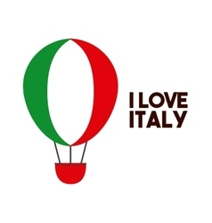 Hot air balloon icon Italy culture design vector