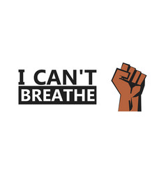 I cant breaposter minneapolis killing protest vector