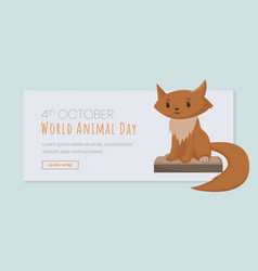international animals day landing page template vector image