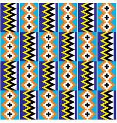 Kente african tribal design from ghana vector
