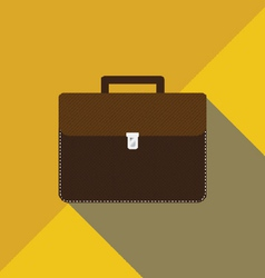 Leather Brown Bag vector