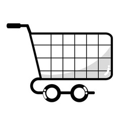 Line shopping car to website buy icon vector