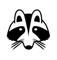 logo a raccoon face isolated image vector image
