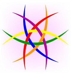 Logo lgbt community lgbt flag vector