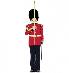 london guard vector image