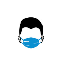 male face mask icon design template vector image
