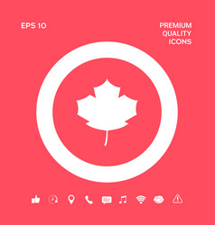 maple leaf icon graphic elements for your design vector image