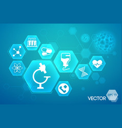 medical blue background design vector image