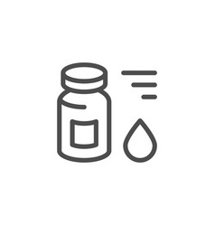 Medical vial line icon vector