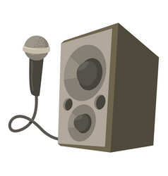 microphone with speakers icon cartoon style vector image