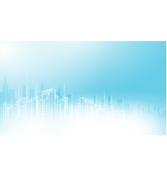 Modern city scape sky scraper background vector