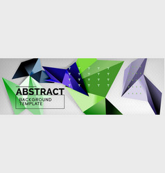 mosaic triangular 3d shapes composition geometric vector image