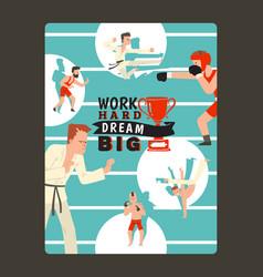 motivational sport poster vector image