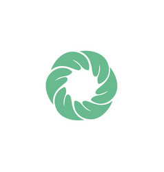 nature holding a circular hand logo template vector image