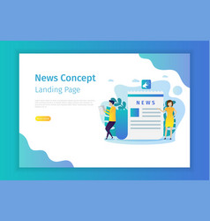 news concept landing page for site vector image