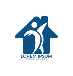 nursing home and human health and medical logo vector image
