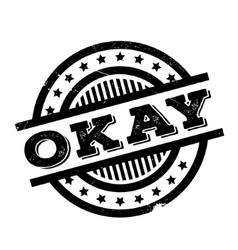 Okay rubber stamp vector