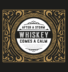 old whiskey label vector image