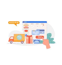 online ordering vector image