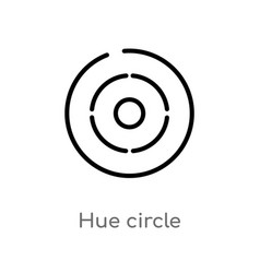 Outline hue circle icon isolated black simple vector