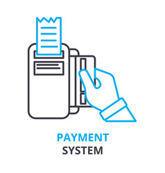 Payment system concept outline icon linear sign vector
